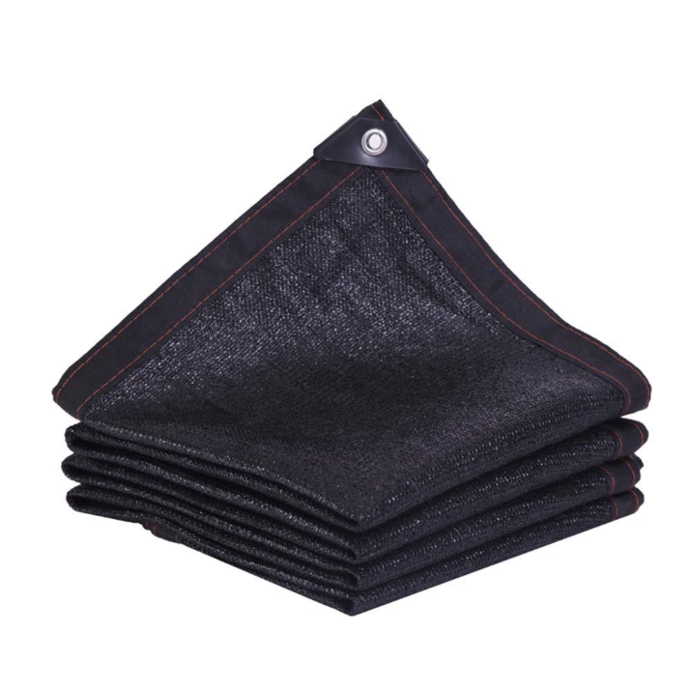 Noir 8×9m DENGSH Toile De Prougeection Solaire Simple,Filet De Parasol En Pot Pour Balcon De Jardin,Filet De Pare-Soleil épaississant De Cryptage,Filet D'Isolation Thermique Extérieur Pratique Noir   7×8m