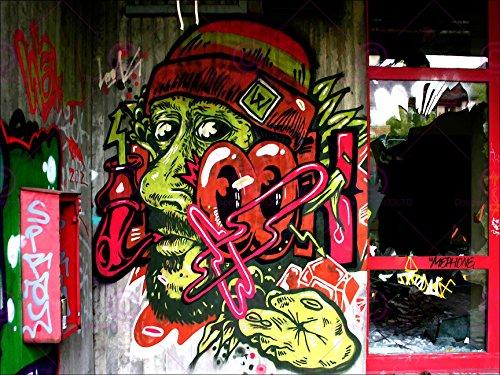 PHOTOGRAPHY GRAFFITI MURAL STREET WALL LOOK PIPE SMOKE 18X24'' POSTER ART PRINT LV10826