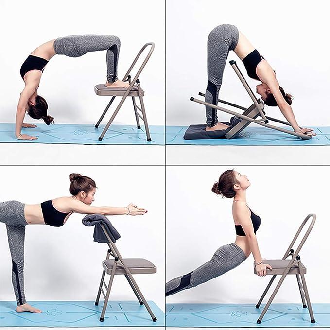 X&JJ Yoga de la Silla, Plegable de Fitness Silla Auxiliar ...