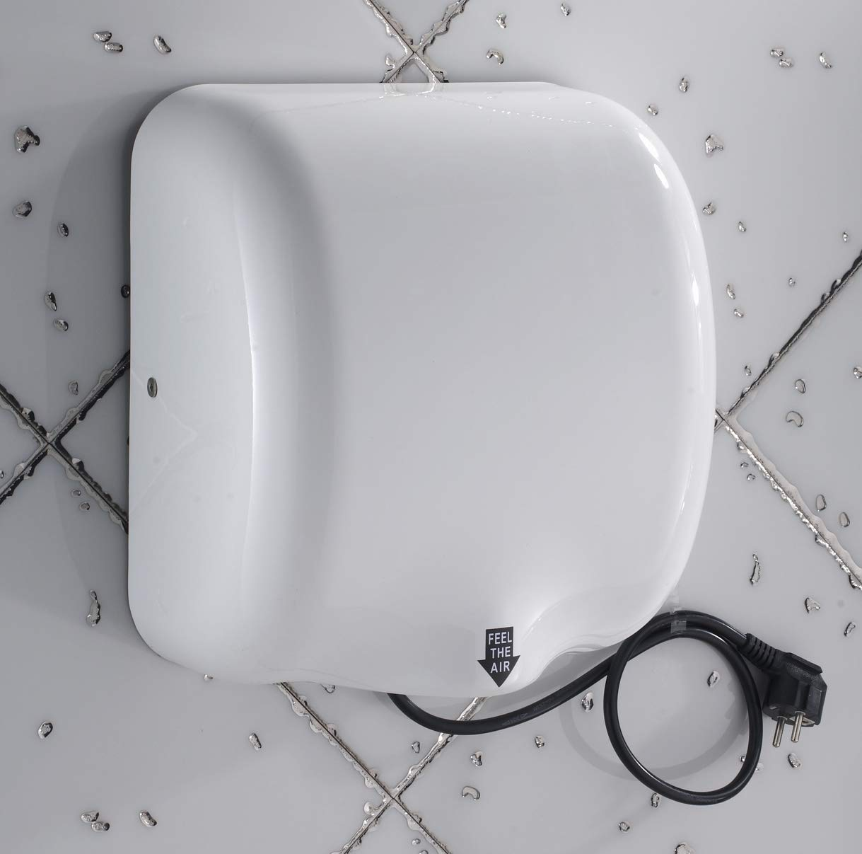 Mophorn 1800W Automatic Hand Dryer 110V Stainless Steel Commercial Hand Dryer Electric Hand Dryer for Hotel Home Bathrooms Air Hand Dryers White (White)
