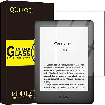 QULLOO Protector Pantalla Kindle Paperwhite 2019 Vidrio Templado ...
