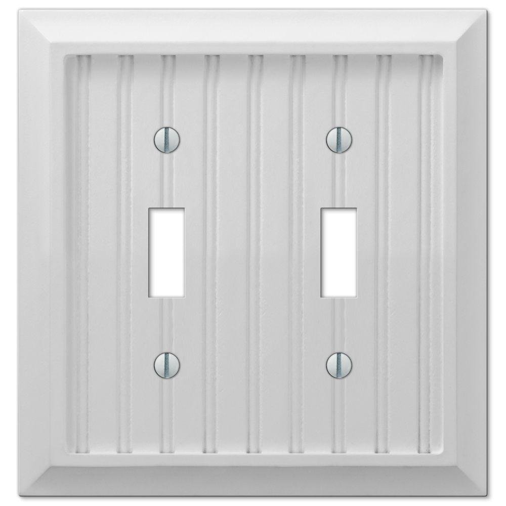 Cottage 2 Toggle Wall Plate - White Composite Wood