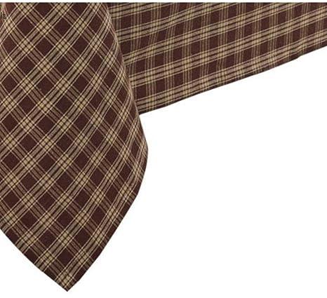 Vinyl Tablecloth 60x102 Springy Herringbone Plaid Theme