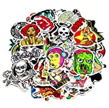 Image of Aikuer 150pcs Laptop Stickers, Car Stickers Skateboard Luggage Bike Motorcycle Bumper Stickers Graffiti Decals Vinyls, Cool Fashion Unique Random Mix Pack for Bicycle Snowboard Helmet Guitar Phone
