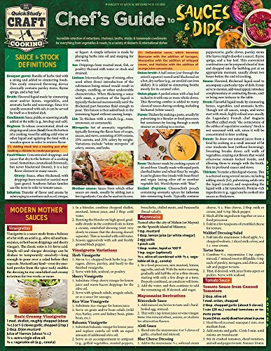 Chef's Guide to Sauces & Dips (Quickstudy Reference Guide) by Jay Weinstein