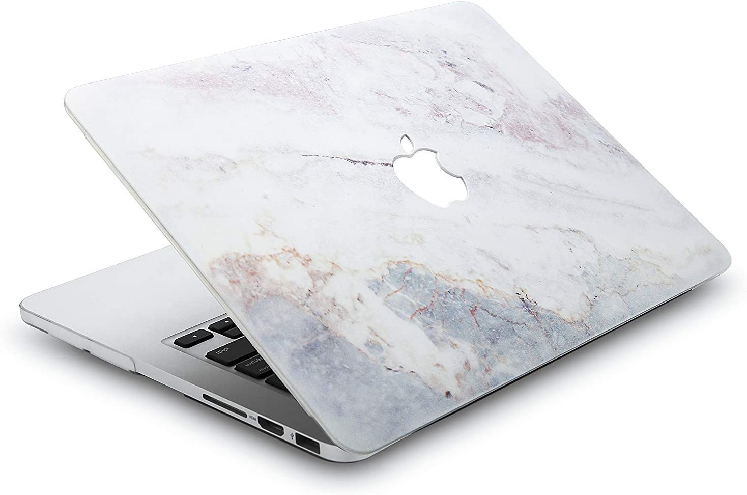 Floral Pattern KBBHD Plastic Shell Cover Keyboard Skin Cover Only Compatible 2008-2012 Release MacBook Pro 13 inch CD-ROM No Retina//Touch Model: A1278