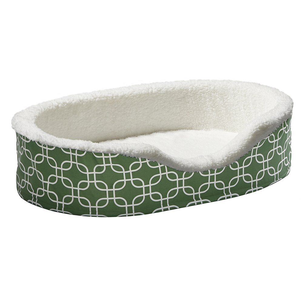 Orthoperdic Egg-Crate Nesting Pet Bed w/ Teflon Fabric Protector, Large Green by MidWest Homes for Pets