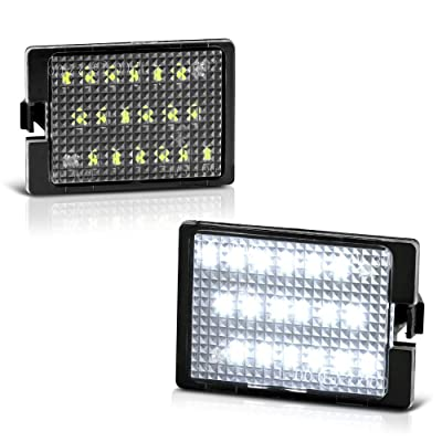 VIPMOTOZ Full LED License Plate Light Lamp Assembly Replacement For 2014-2020 Dodge Durango, 6000K Diamond White, 2-Pieces Set: Automotive