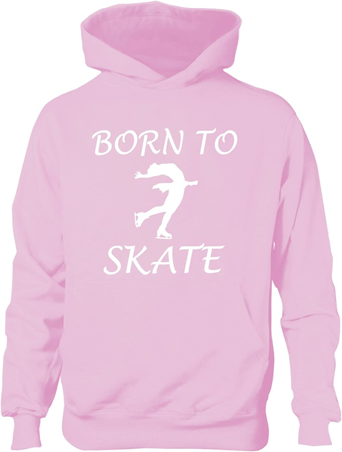 Print4U Born to Skate Girls Ice Skating Hoodie Age 5-13