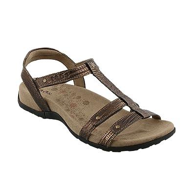 Taos Women's Women's Trophy Bronze Reptile Embossed Sandal 8 ...