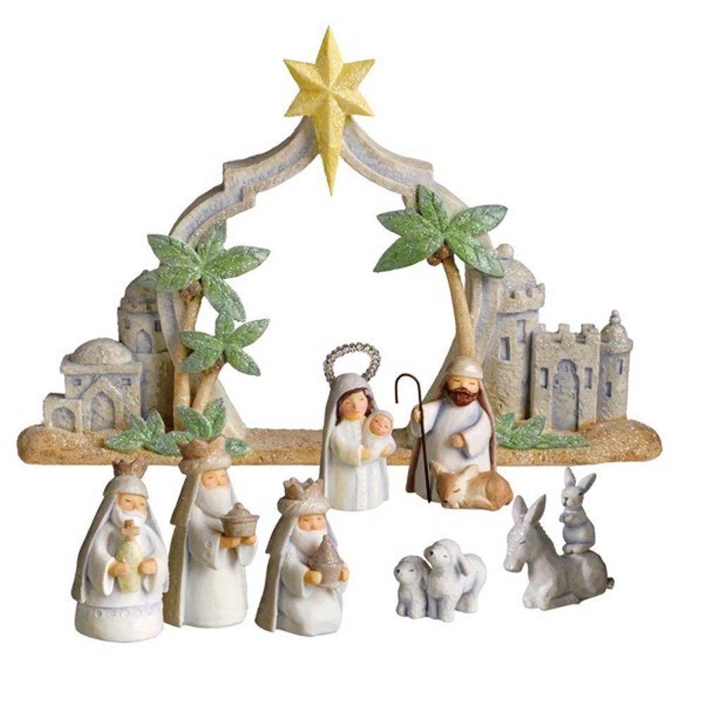 Grasslands Road Gifts of Glory Mini Nativity Scene, Resin by Grasslands Road
