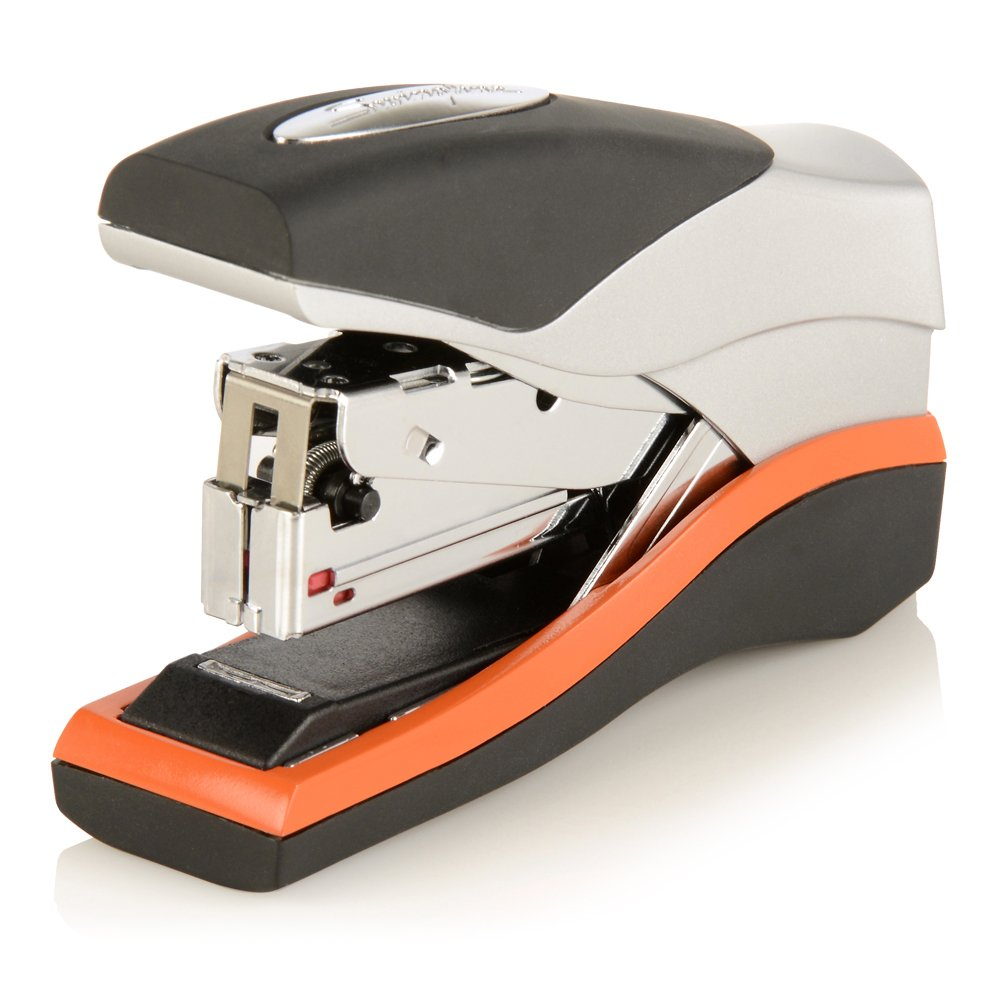 Swingline Stapler, Optima 40, Compact Desktop Stapler, 40 Sheet Capacity, Low Force, Orange/Silver/Black (87842)