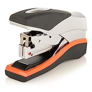 Swingline Stapler, Optima 40, Compact Desktop Stapler, 40 Sheet Capacity, Low Force, Orange/Silver/Black (87842)