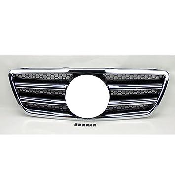 Parrilla delantera negra y cromada para Benz Clase E W210 2000-2002: Amazon.es: Coche y moto