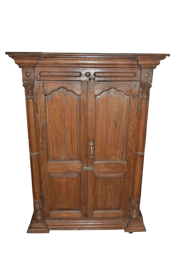 Amazon.com: Antique Moroccan Style Cabinet Rustic Reclaimed Wood Armoire  Wardrobe Storage: Kitchen U0026 Dining