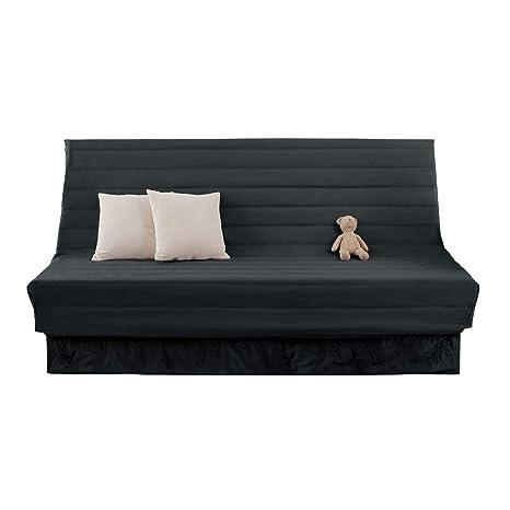 Deconovo Fundas para Sofas 2 Plazas sin Brazos 90 x 60 x 190 cm Gris Oscuro