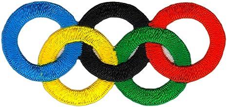 Écusson à coudre ou à repasser - 6 x 3 cm - En forme d'anneaux olympiques:  Amazon.fr: Auto et Moto