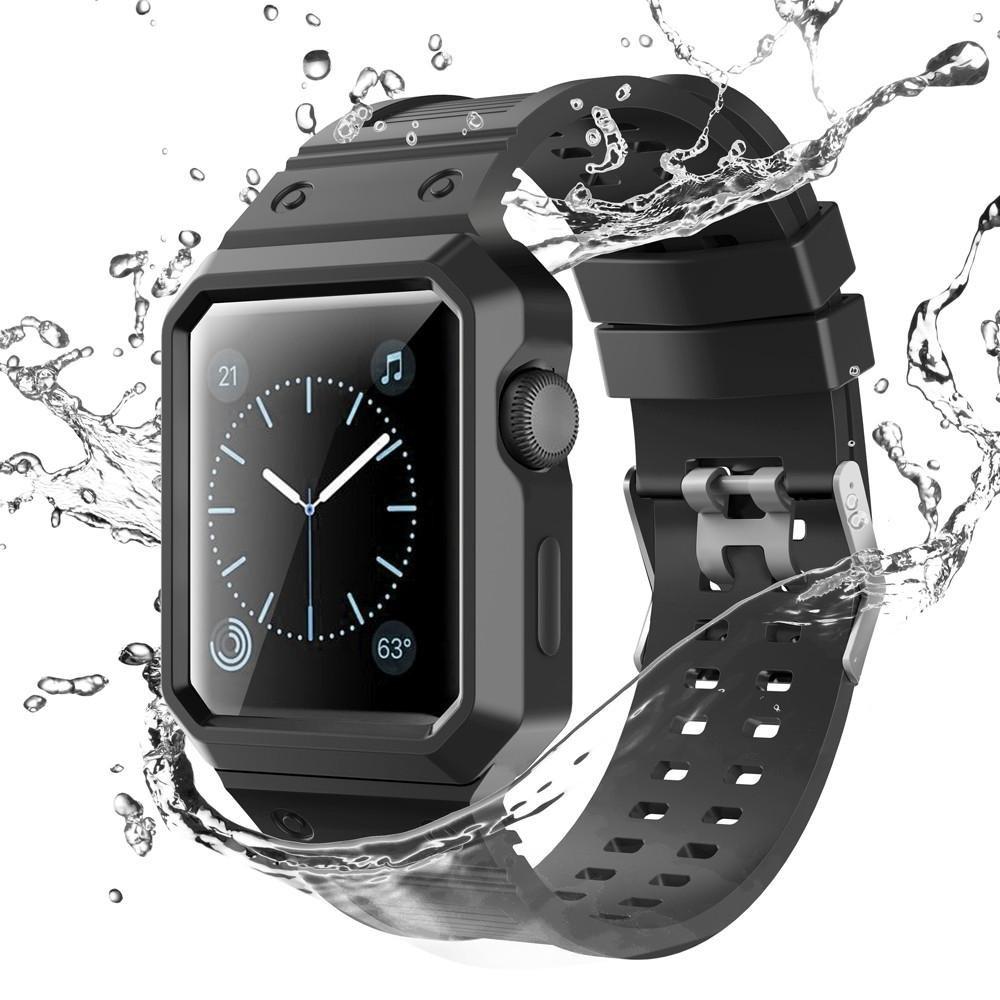 For Apple Watchシリーズ1 / 2交換用ストラップ、oksaleシリカゲルバックル腕時計バンドストラップfor Apple Watchシリーズ1 / 2 38MM 38MM|ブラック ブラック 38MM B074FTQK1G