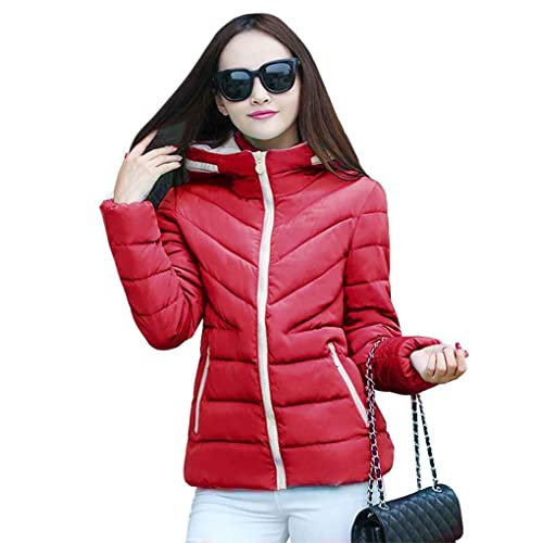 Mujeres de algod¨®n acolchado chaqueta corta y delgada de gran tama?o Wadded chaqueta b¨¢sica de abr...
