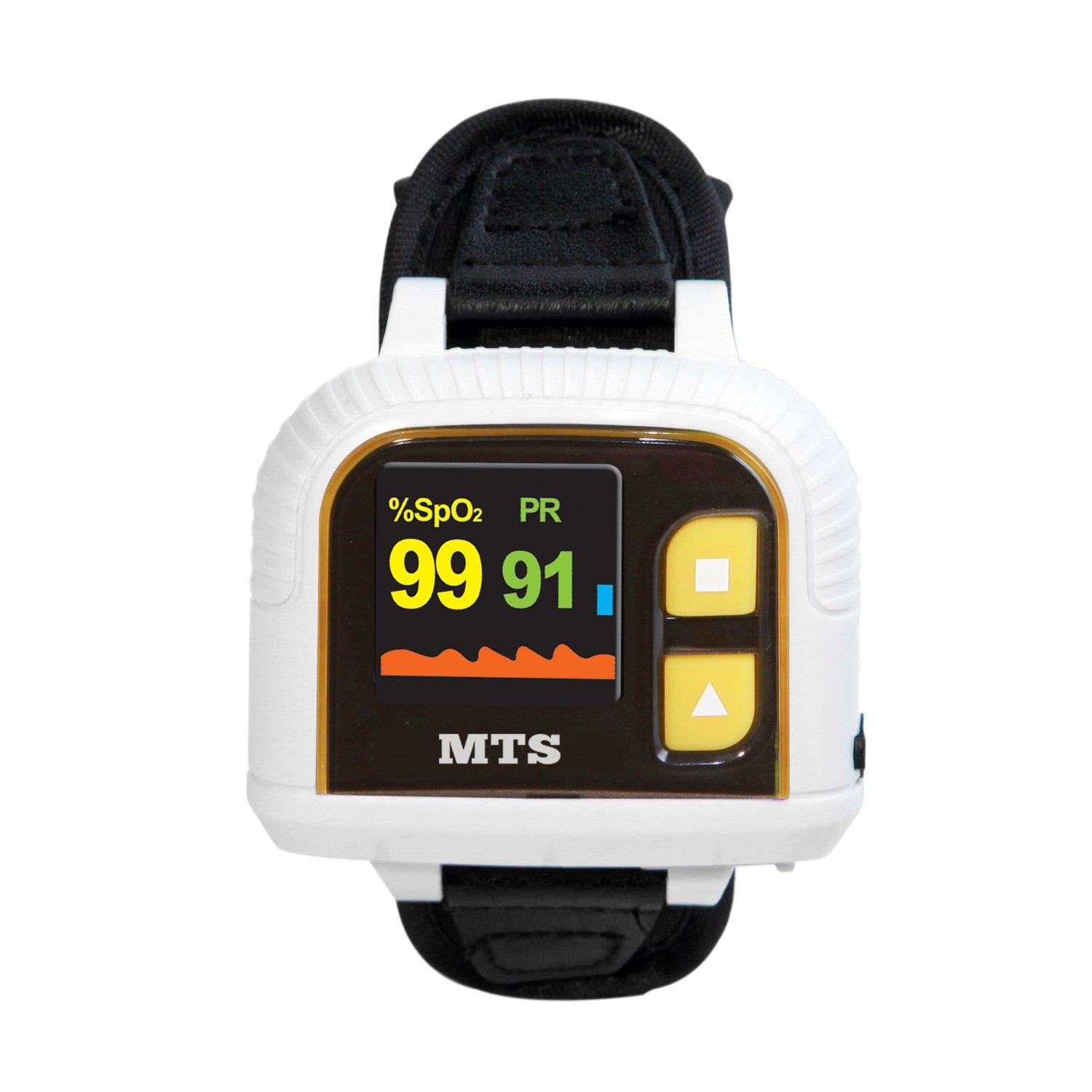 Wrist Pulse Oximeter MTS OX-610A with Memory, Fully Automatic, Motion Tolerant, Programmable Alarms, Software Included