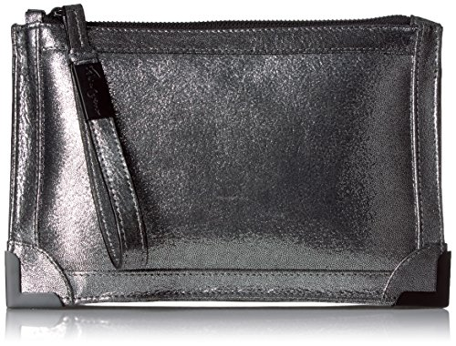 Foley + Corinna Frame Flat Pouch, Washed Silver/Metallic by Foley + Corinna
