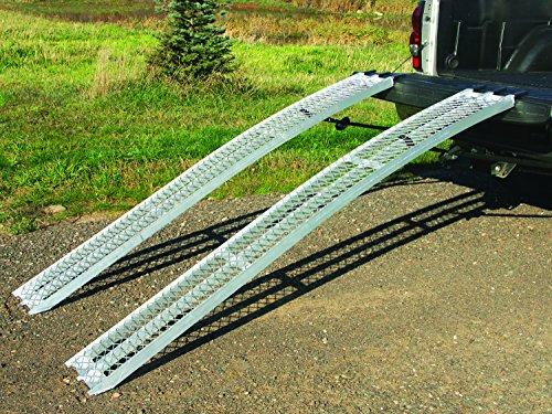 Yutrax TX105 Silver 89-inch Aluminum Arch Ramps - Pair, 1500lb Capacity