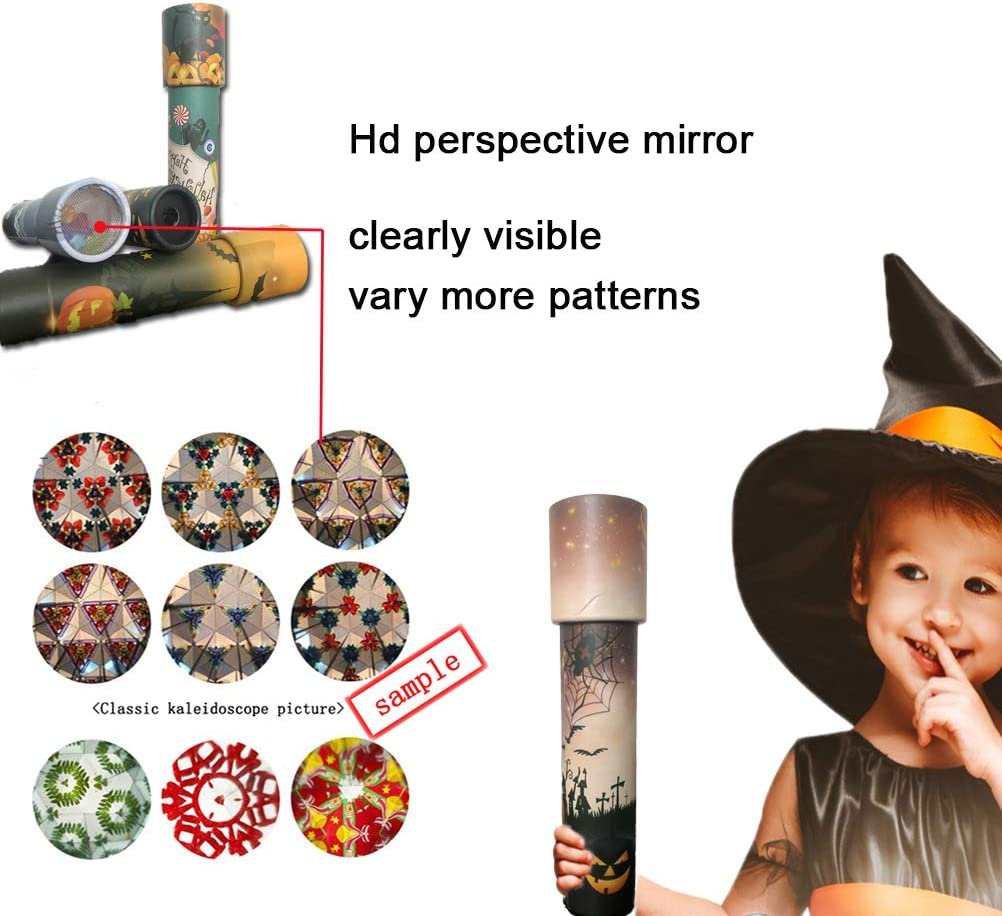 Christmas Series A Childrens Magic 3D Mirror Kaleidoscope Toy for 3 to 8-Year-Old Kids (Wathet) Classic Educational Science Development Toy or Gift