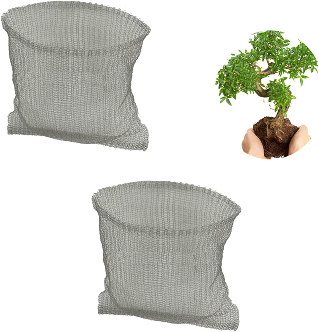 2 Pcs Root Guard Baskets, Protect Root Guard Wire Speed Baskets Heavy Duty Root Protector Plant Baskets, Effective Gopher Vole Repellent Baskets for Perennials Garden Protect Root Plant Vegetables