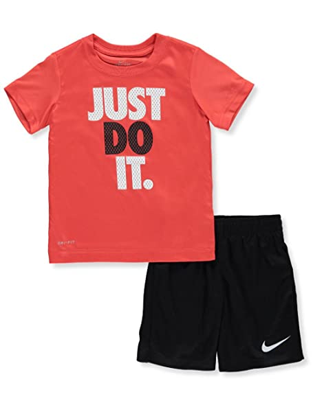dfea704041 Amazon.com: Nike Little Boys' Toddler 2-Piece Outfit (Sizes 2T - 4T ...
