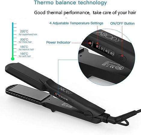 Abody Plaque à cheveux multifonction, fer et lisseur, outils