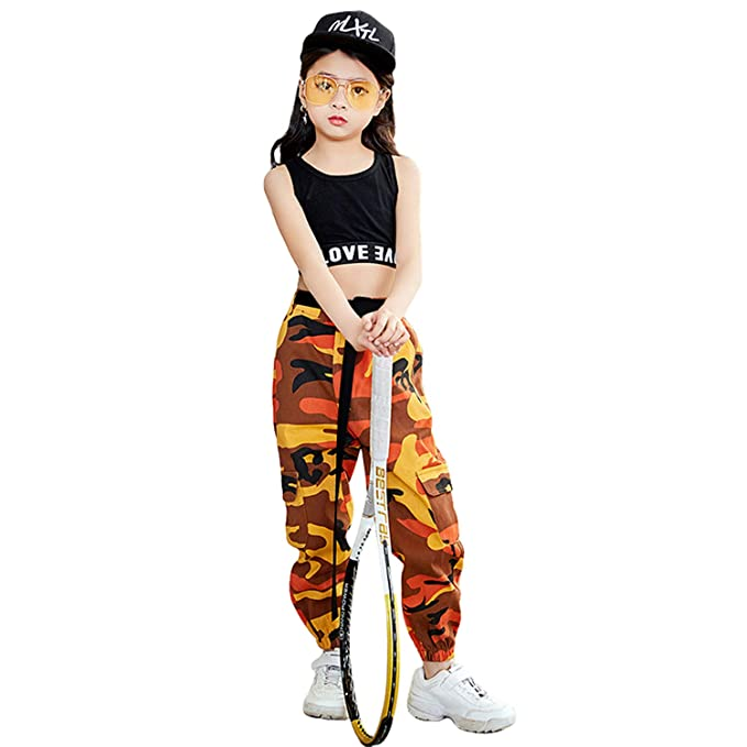 Amazon.com: Juego de 2 piezas de ropa de baile, para niñas ...