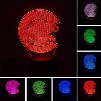 HNXDP Luminaria Cartoon 3D Polar Bear LED Night Light 7 Color ...