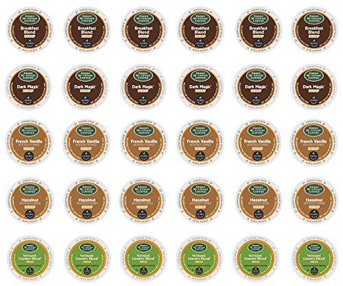 (Green Mountain Decaf - Hazelnut Decaf, Vermont Country Blend Decaf, Breakfast Blend Decaf, French Vanilla Decaf & Dark Magic Decaf K-cup Sampler Pack for Keurig 2.0 - 30 Count/5 Varieties)