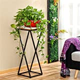AIDELAI Simple Creative European Style Flower Racks Indoor And Outdoor Living Room Balcony Decoration Single Layer Flower Pot Rack Patio Garden Pergolas ( Size : M )