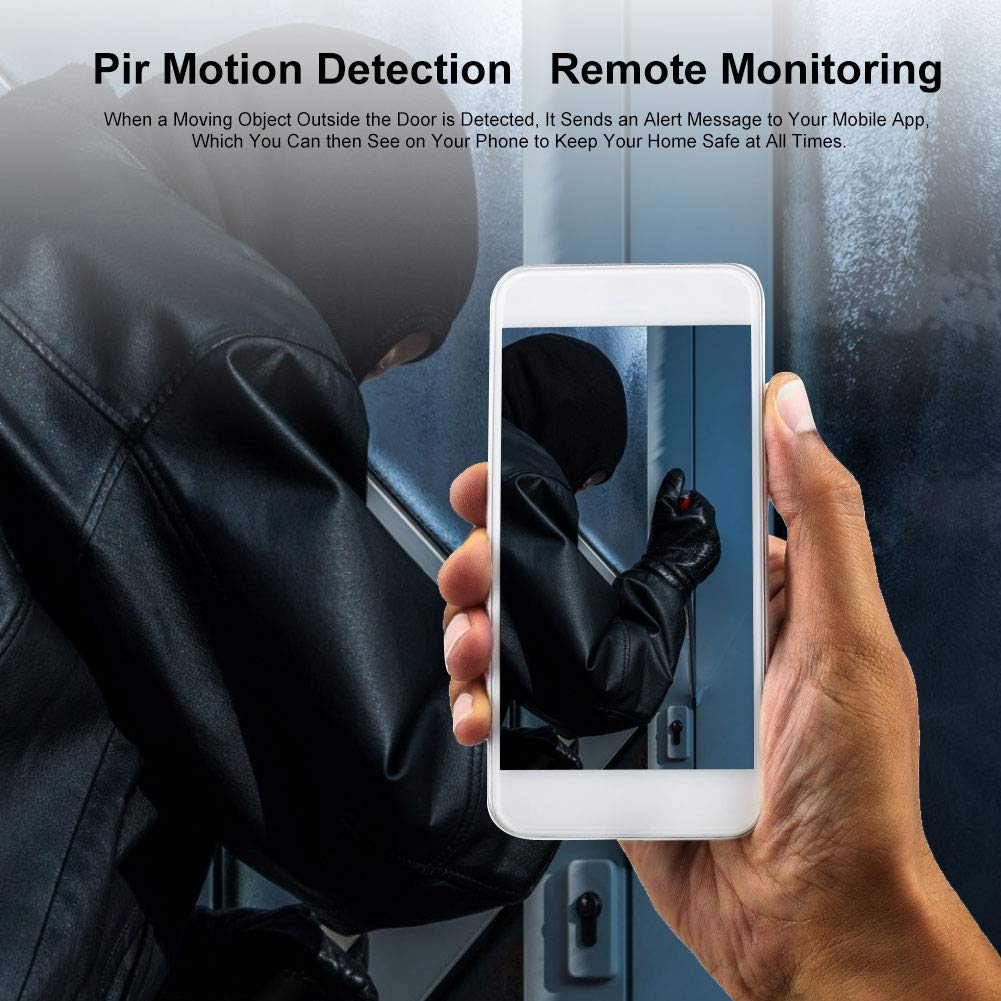 Digitale T/ürspion Kamera APP-Steuerung f/ür IOS//Android 2-Wege-Audio 4.3Inch 720P WIFI Video T/ürspion T/ürklingel / mit Nachtsicht 166 /° Weitwinkel Cloud-Speicher PIR-Bewegungserkennung