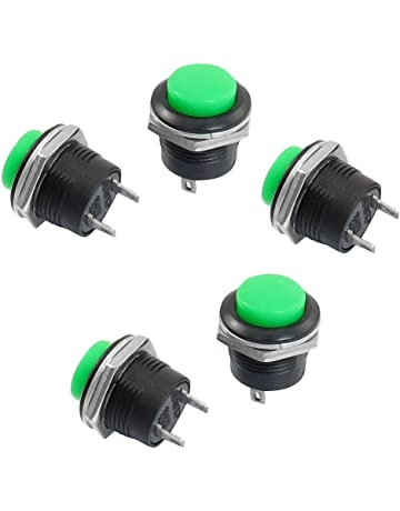 Interruptor de boton pulsador - SODIAL(R) 5 x Interruptor de boton pulsador de