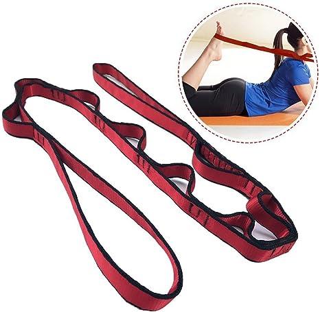 Fastar - Cinta elástica para yoga y danza, cinta para estiramientos múltiple, ideal para fitness en el hogar, yoga, baile, pilates, fisioterapia.