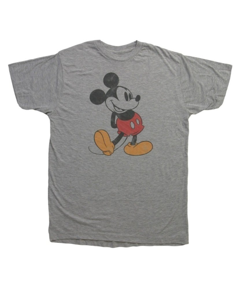 Mighty Fine mens Classic Distressed Mickey T-Shirt