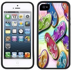 Flip Flops Sandals Shoes Handmade iPhone 5 5S Black Case