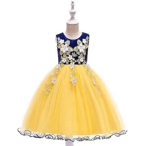 Niñas Vestido De Flores Con Flecos De Perlas De La Princesa