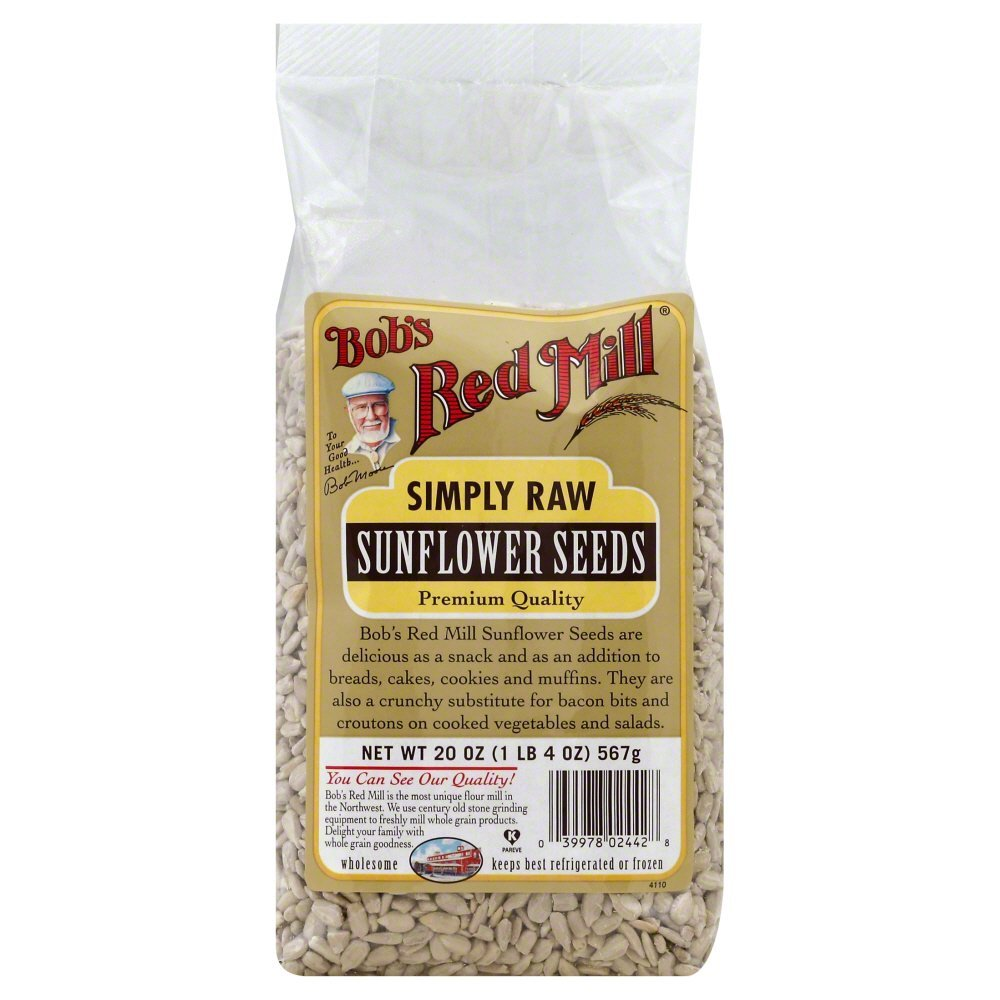 Bobs Red Mill Sunflower Seeds (Raw Shelled) 20.0 OZ(Pack of 3) by Bob's Red Mill