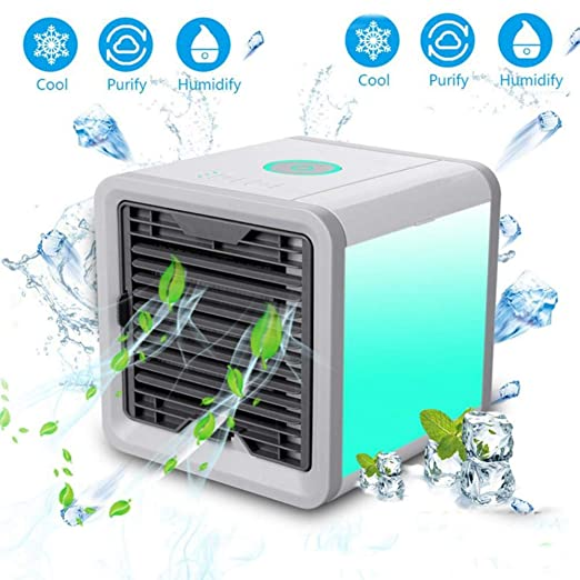 MINI ARIA RADIATORE USB Air Cooler ventola a clima umidificazione LED ARIA CONDIZIONATA