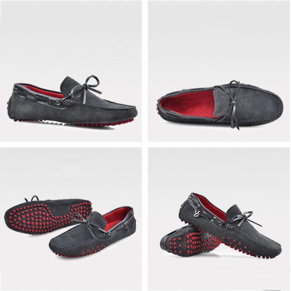 FuweiEncore Herren Slip on Casual Loafer Driving Schuhe, Frühling Herbst Comfort Lederschuhe, Faule Schuhe, Comfort Herbst Wanderschuhe, Trendy Peas Schuhe (Farbe   D, Größe   39) e41628