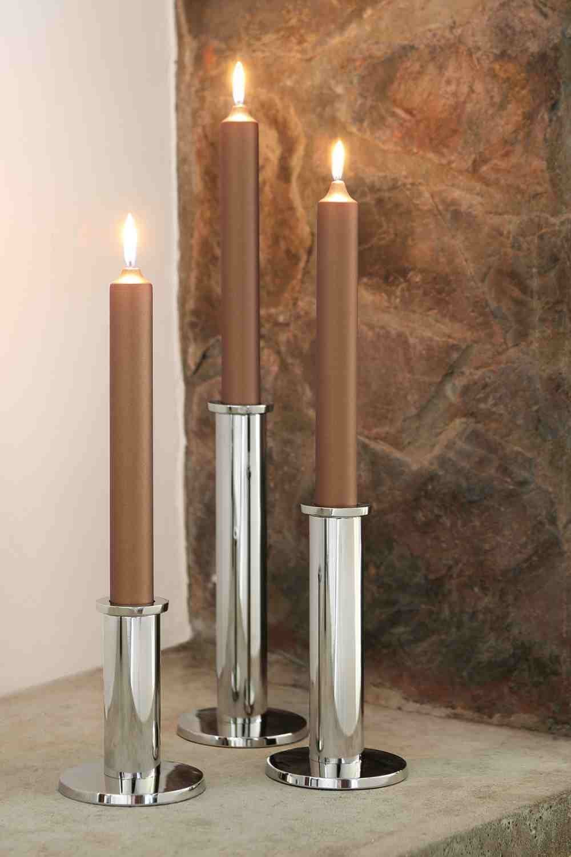 Fink - STRATO - Leuchter - Kerzenhalter - vernickelt - Höhe 11,7 cm