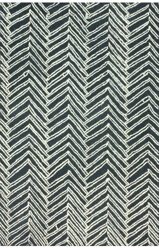 nuLOOM Varanas Collection Becca Contemporary Hand Made Area Rug, 5-Feet by 8-Feet, Denim