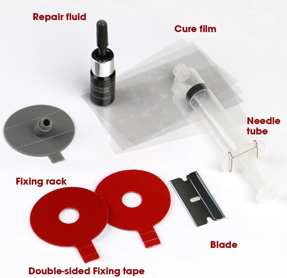 ETbotu DIY Car kit riparazione parabrezza parabrezza con set di attrezzi di riparazione per BullsEye Star half-moon crepe o la combinazione crepe