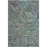 Cheap Safavieh Nantucket Collection NAN607A Handmade Abstract Blue Cotton/ Premium Area Rug (3′ x 5′)