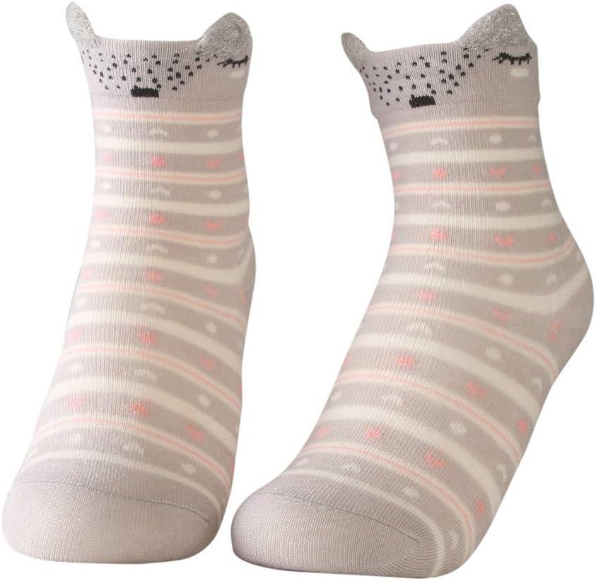 HUANDATONG Bambini Toddler Grandi Bambine Fashion Cotton Crew Seamless Socks 5 Coppie 2019 I Migliori Regali