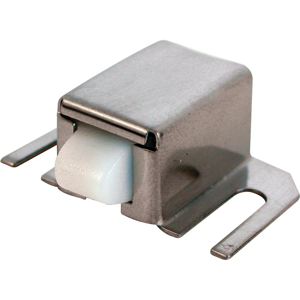 Prime-Line Products M 6014 Prime Line M-6014 Swinging Shower Door Catch, 1/2 In H X 1-5/16 In W, Stainless Steel/Plastic Tip