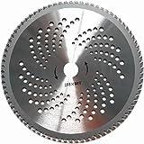 25,4cm 80dientes carburo Hoja de sierra circular cortacésped/desbrozadora hoja 25,4mm calibre